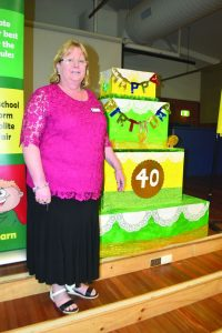 Franklin Public School principal Carmel Stuckey is looking forward to this weekend's 40th anniversary celebrations.