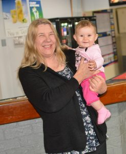 Julie Graham, owner of the Wynyard Hotel, is hoping to spend a bit more time with grand-daughter Ruby once the pub shuts on October 22.